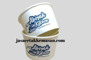 kemasan makanan paper rice bowl